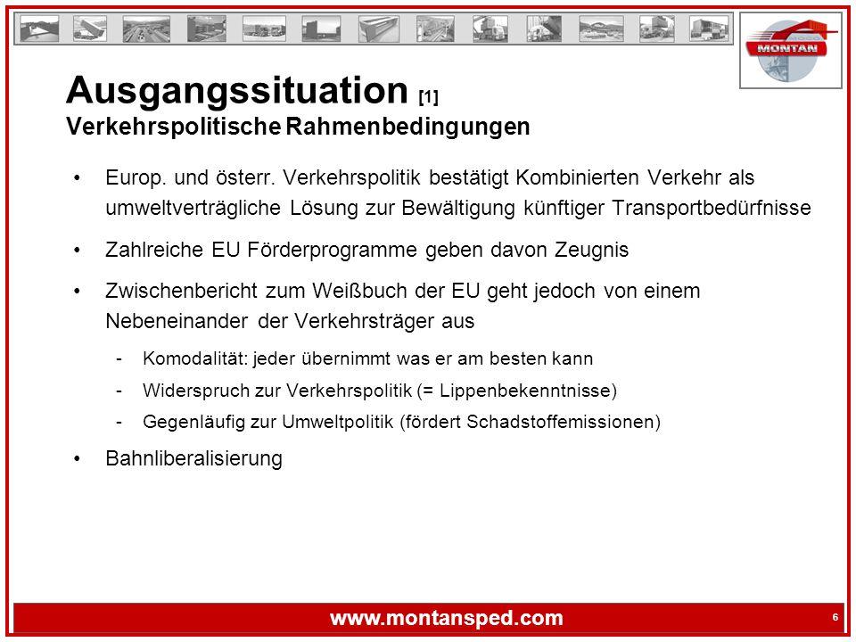 Ausgangssituation [1] Verkehrspolitische Rahmenbedingungen